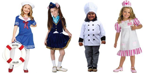 Новогодние костюмы 2019 профессии для девочек