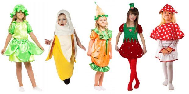 Новогодние костюмы 2019 фрукты и овощи для девочек