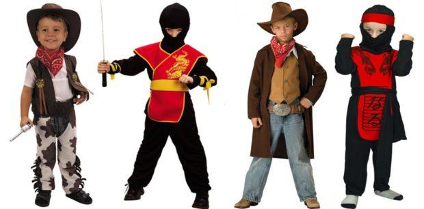 Новогодние костюмы ковбои и ниндзя для мальчиков 2019