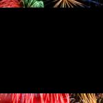 Новогодняя рамка с салютом для ф