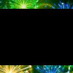 Новогодняя рамка с салютом для фотошопа