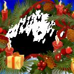 Новогодняя рамка со свечами для фотошопа