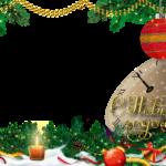 Новогодняя рамка с елкой для фотошопа