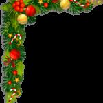 Новогодняя рамка с новогодними украшениями для фотошопа