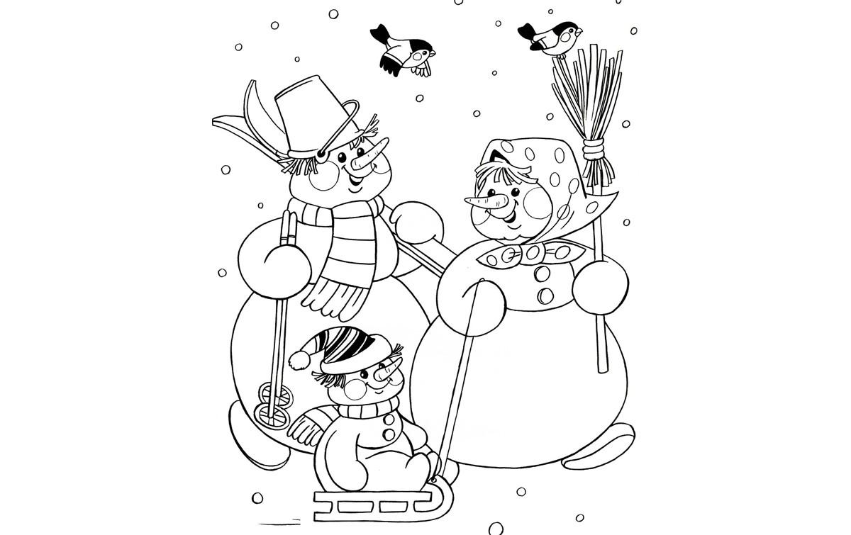 Раскраска на новый год распечатать на 2019 год