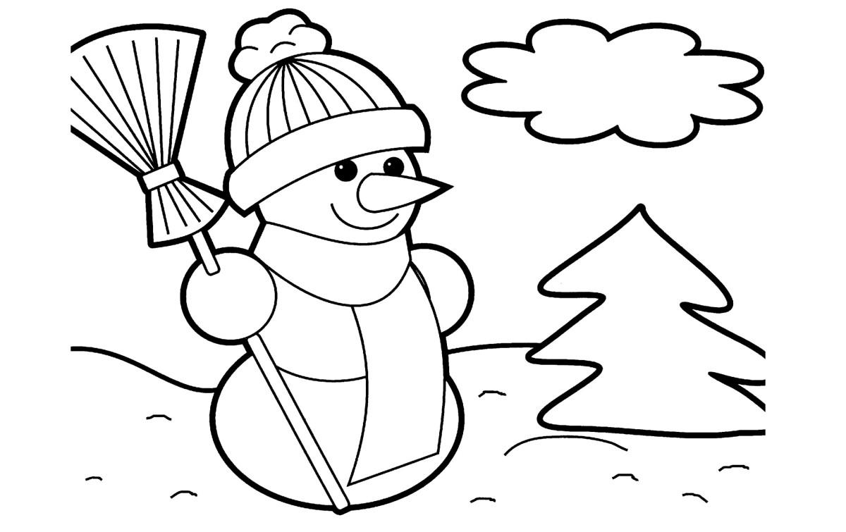 Раскраски снеговики на новый 2018 год
