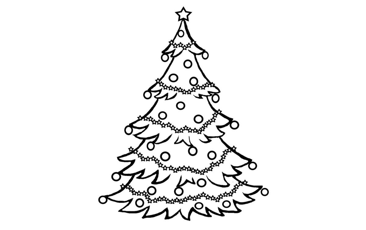Раскраски елки на новый 2018 год