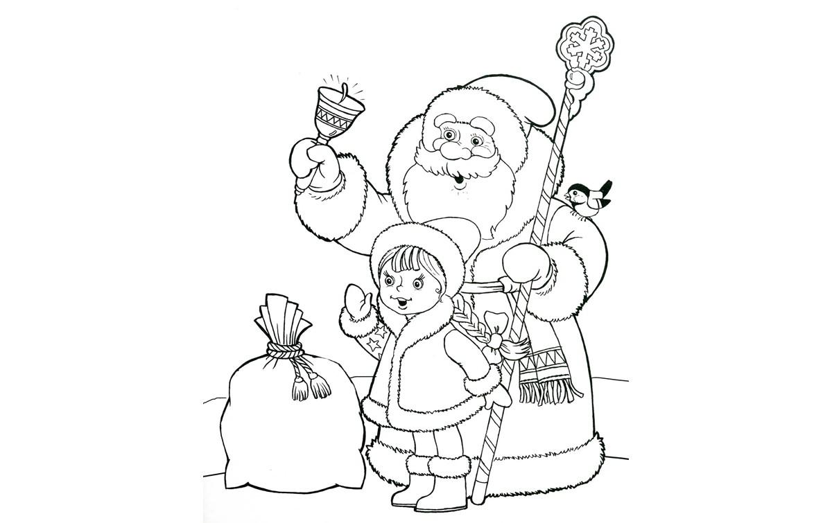 Приколов картинки, дед мороз и снеговик картинки раскраски