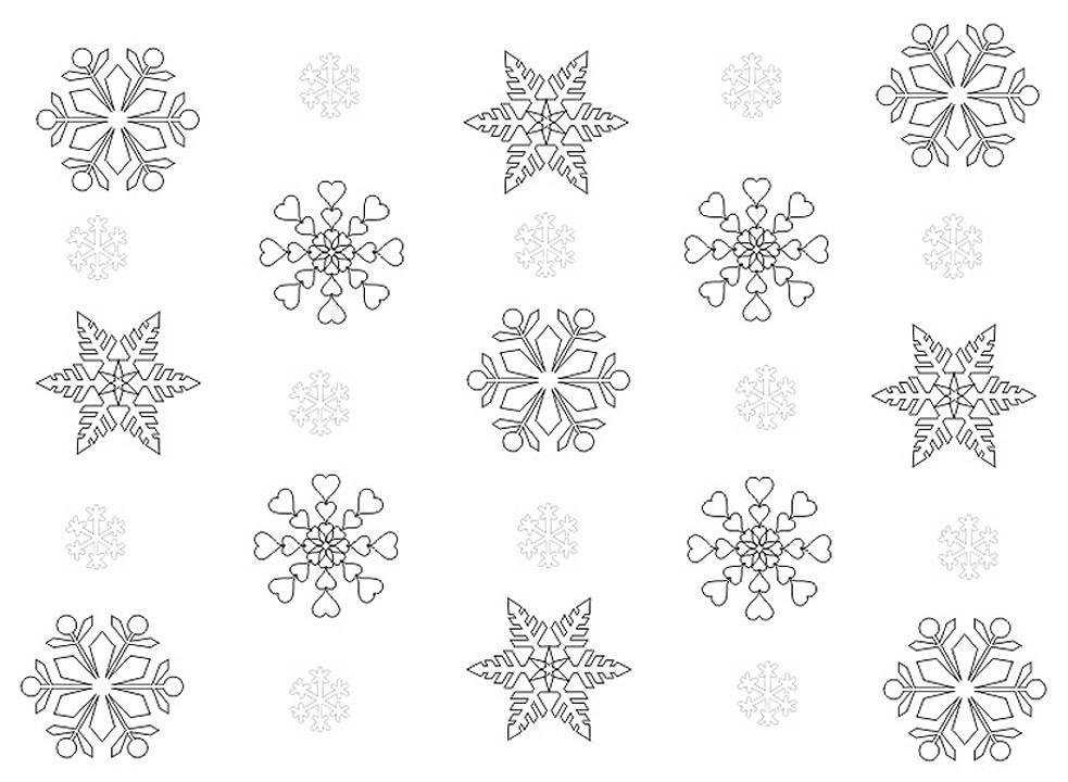 Раскраски снежинки на новый 2018 год