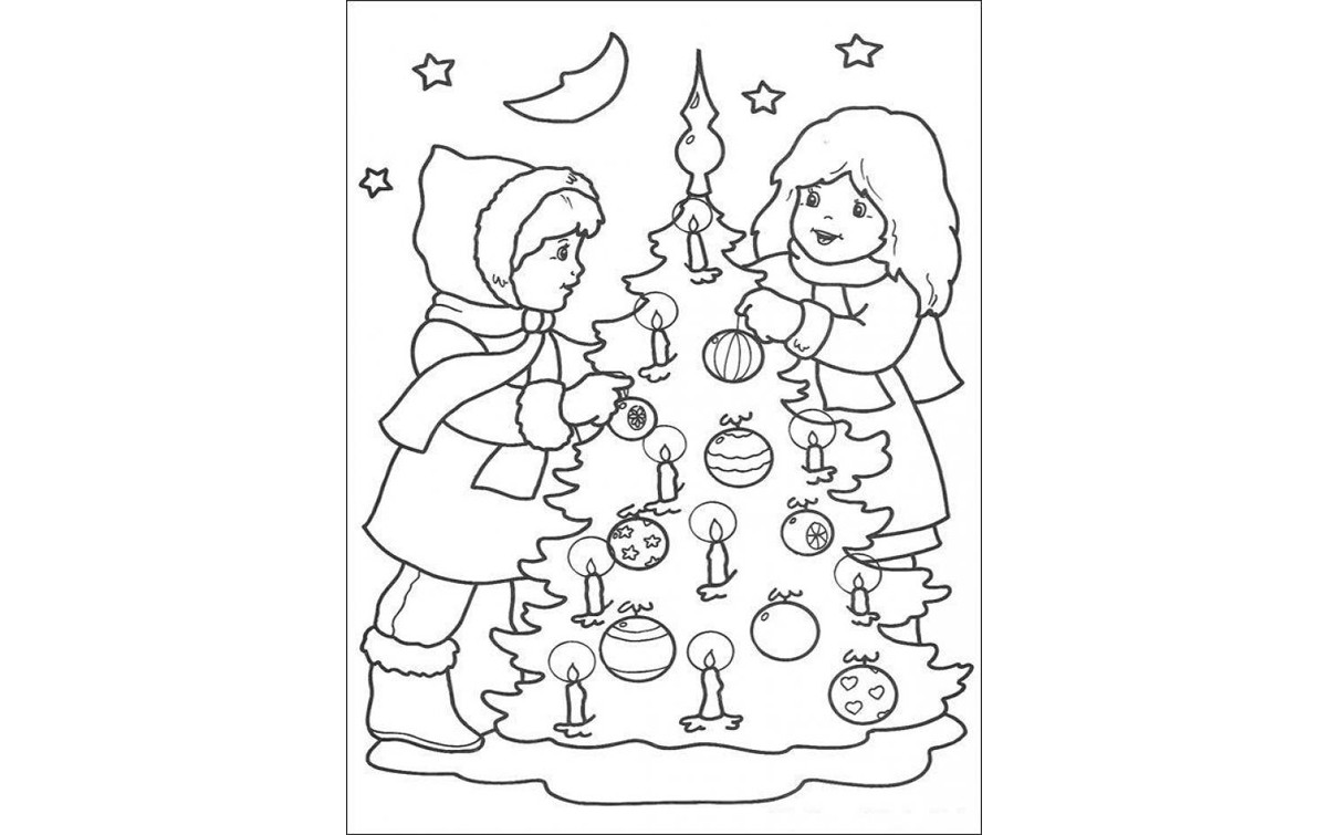 Раскраски Рождество 2018