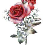Рисунок цветы для декупажа