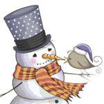 Картинка для декупажа: снеговик