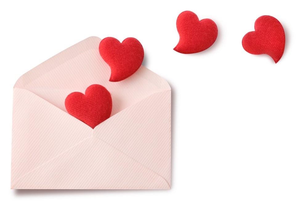 День, открытка виде сердечка