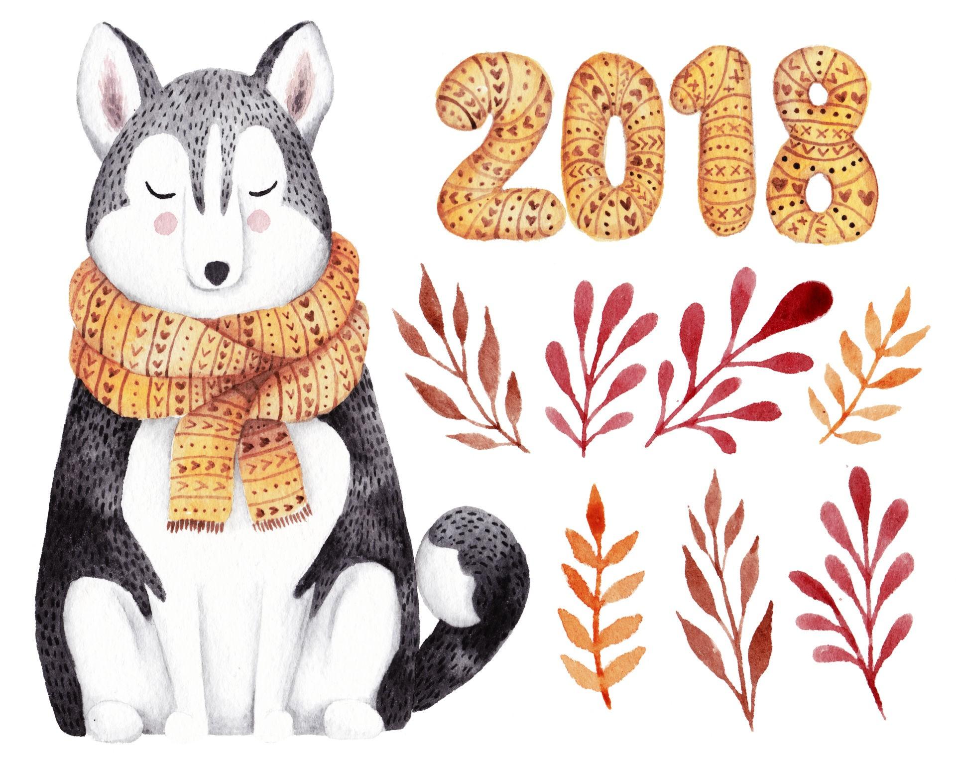 Рисунки новогодние открытки 2018