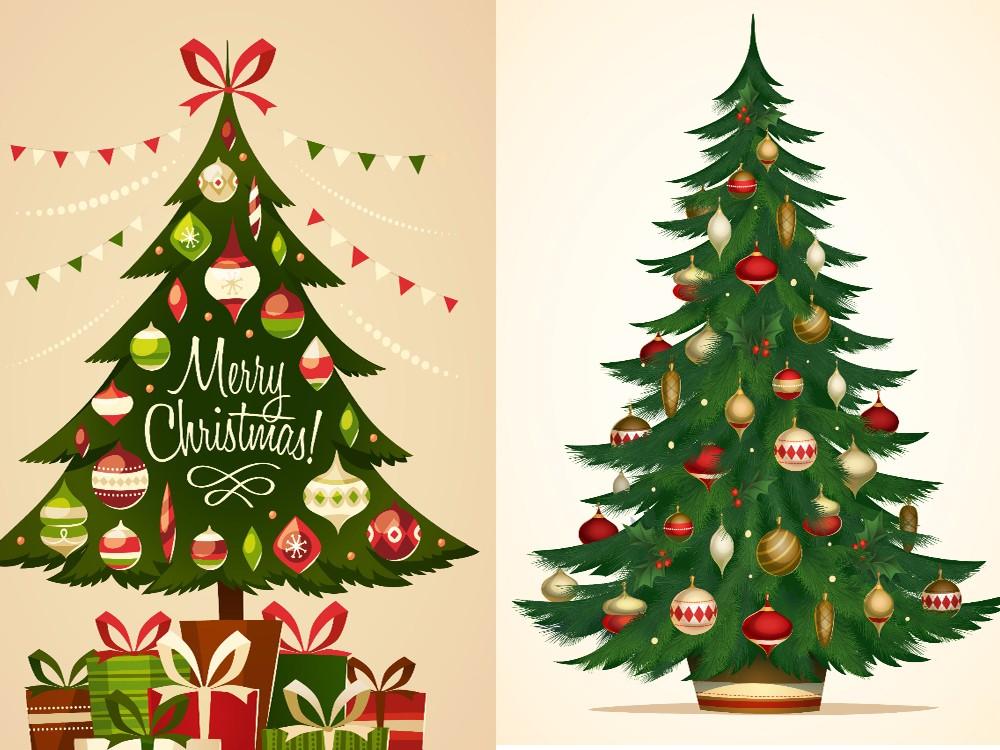 Картинка елка для открытки с днем рождения