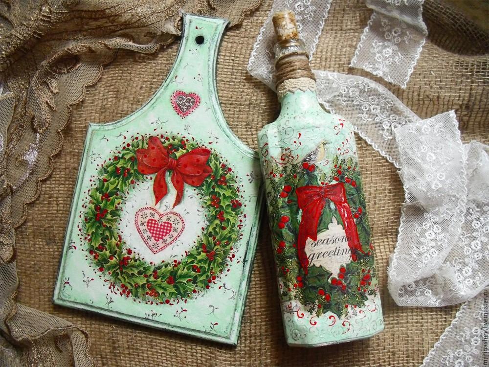 Подарок декупаж к новому году