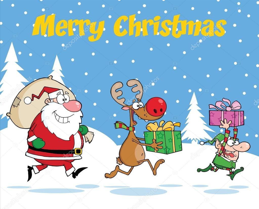 Забавные рождественские картинки на 2018 год