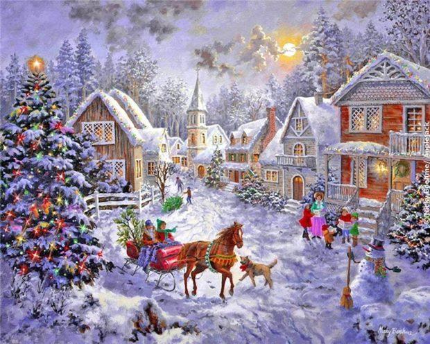 Открытки и картинки с Рождеством Христовым 2019 года
