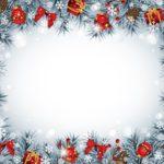 Новогодняя рамка для фотошоп