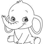 Раскраска слоник
