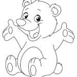 Раскраска медвеженок