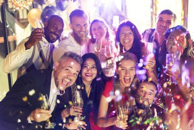 Празднование нового 2019 года в ресторане