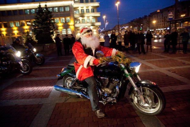 Новый год 2019 на мотоцикле