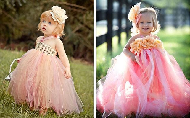 красивые новогодние платья для девочек 2019-2020: платья с фатином розовое