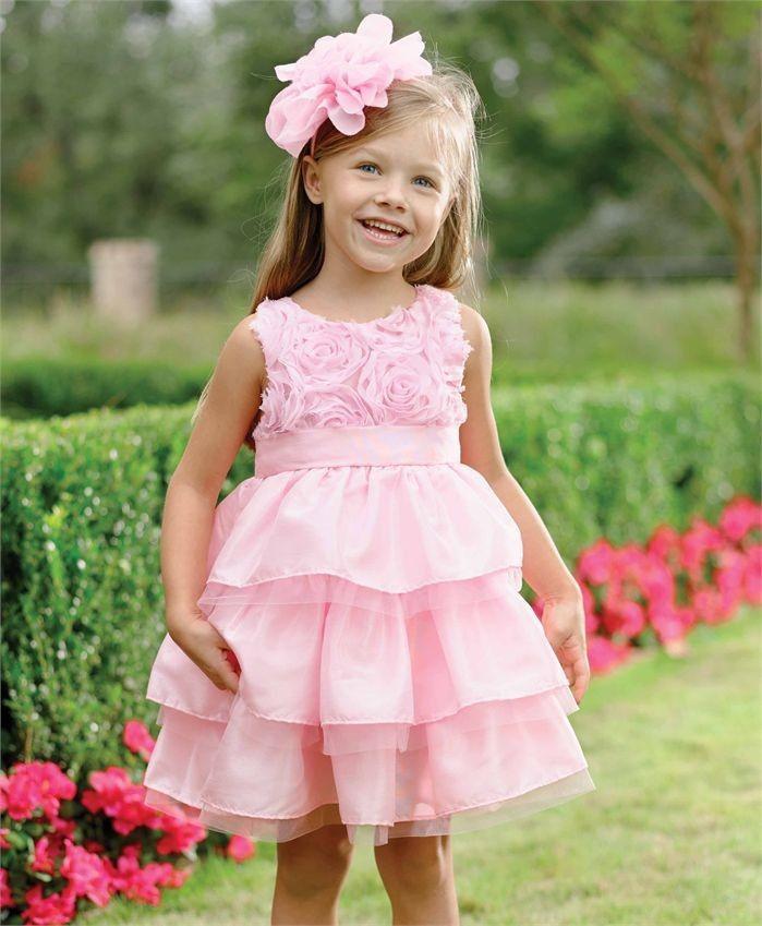 красивые новогодние платья для девочек 2019-2020: сарафан розовый с воланами