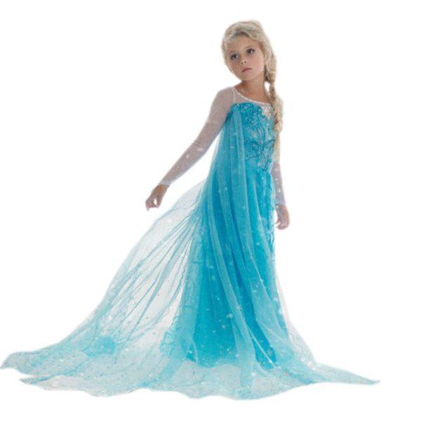 красивые новогодние платья для девочек 2018: платье принцессы голубое платье со шлейфом