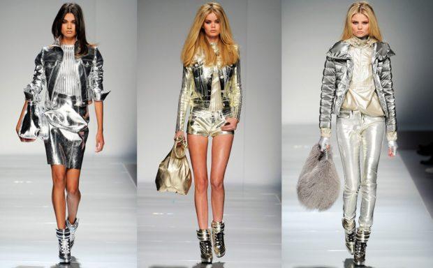 модная осень 2019-2020 костюмы серебристого цвета