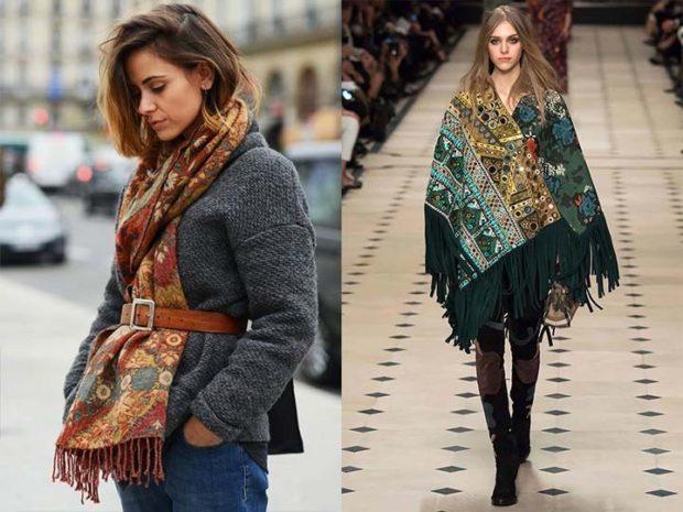 модная осень 2019-2020 шарф платок цветной