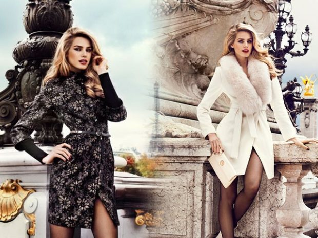 модная осень 2019-2020 пальто черное белое