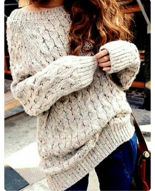 модная осень 2019-2020 свитер объемный белый