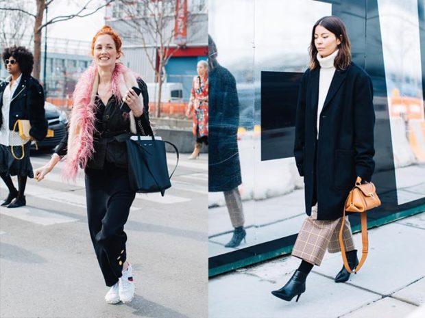 модная осень 2019-2020 пальто черное