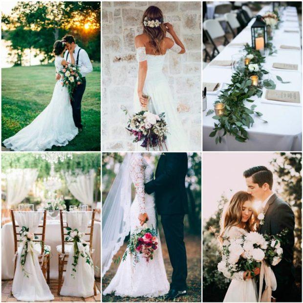 модная свадьба 2018 классика белый с черным