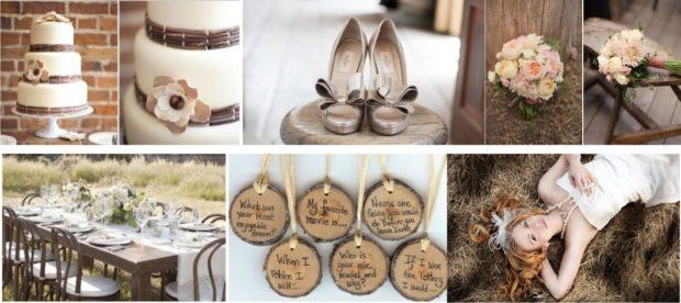 модные свадьбы 2018 в деревенском стиле под дерево