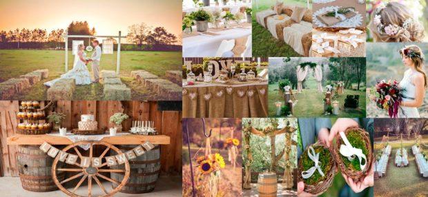 модные свадьбы 2018 свадьба в деревенском стиле на природе
