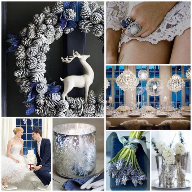 модная свадьба 2018 серые цвета зима