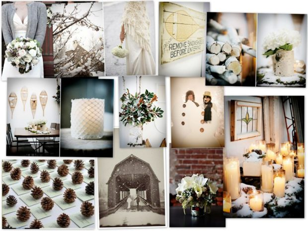 модная свадьба 2018 зимнее оформление декор для стола