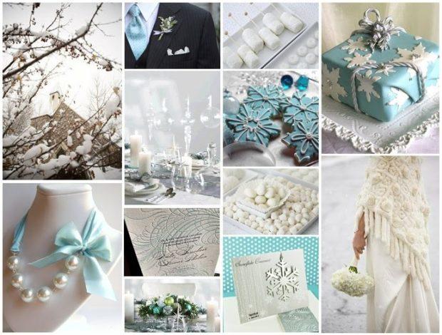 модная свадьба 2018 зимняя свадьба в серых тонах с голубым декор свадьбы