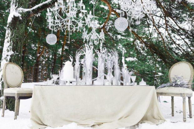 модная свадьба 2018 серая свадьба зима оформление стола