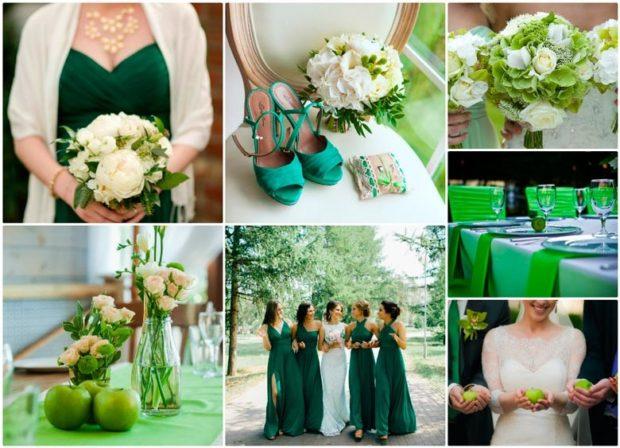 модная свадьба 2018 зеленое оформление