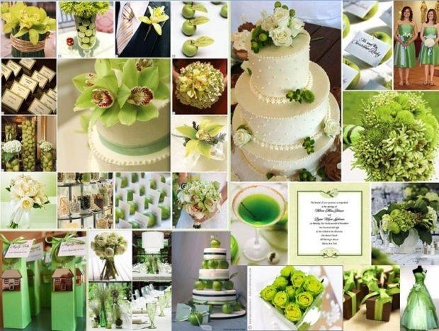 модная свадьба 2018 зеленый стиль свадьба