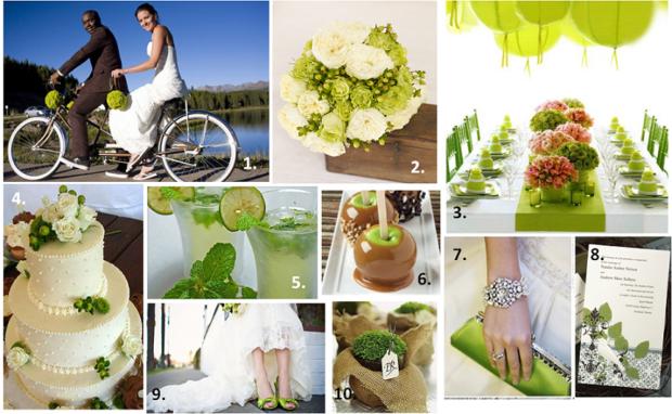 модная свадьба 2018 оформление в зеленых оттенках + лайм