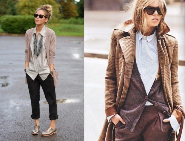 модные луки весна 2019 стиль денди брюки пиджак жилетка