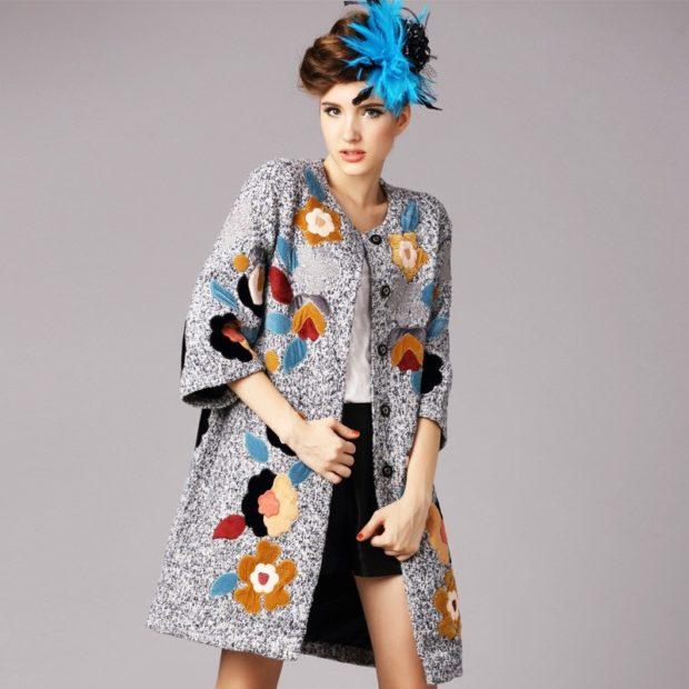 модные луки весна 2019 пальто с аппликацией