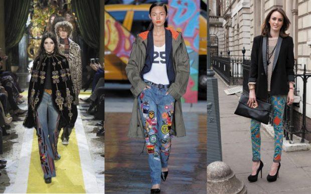 модные луки весна 2019 джинсы под пальто рубашку