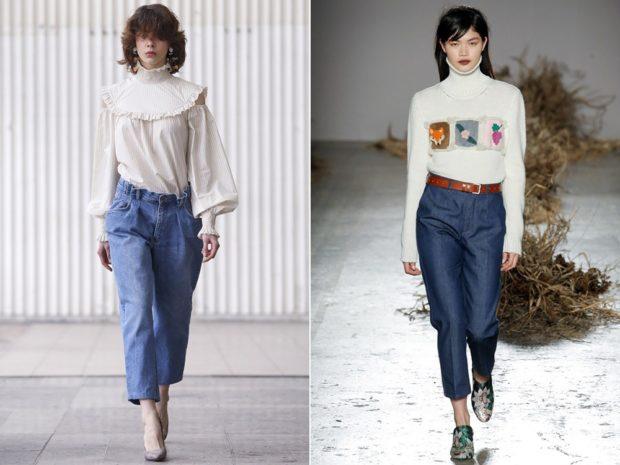 модные луки весна 2019 короткие под блузки