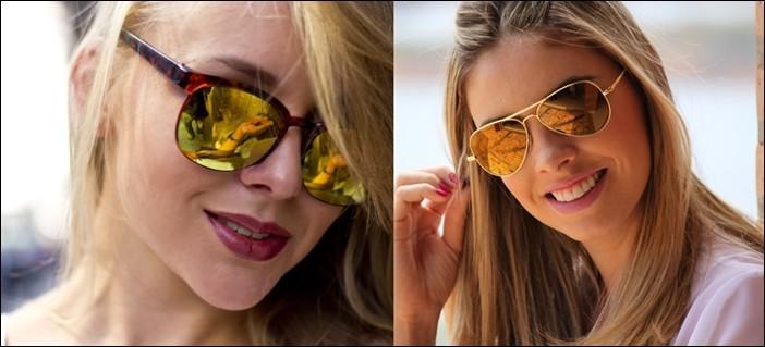 модные очки от солнца 2018: отражающие желтые